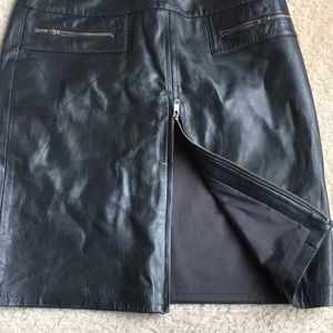 Club Monaco Skirts - ❌SOLD❌Cache grey 100% leather skirt